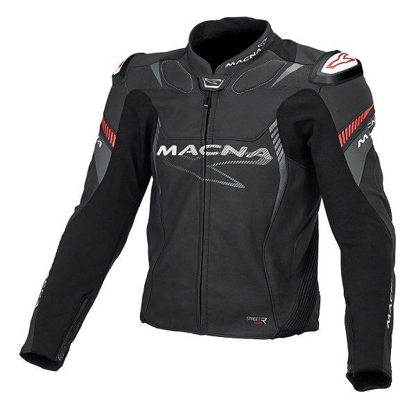 44e07299cf Macna Blast motoros bőrdzseki fekete/piros – Showbike