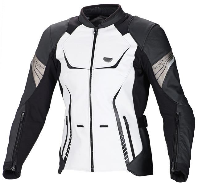 f0bd77c3e4 Macna Orient motoros női bőrdzseki fehér/fekete/szürke – Showbike