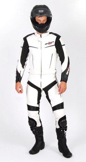SPEED UP Alpha motoros bőrruha fehér fekete 118d8e4489