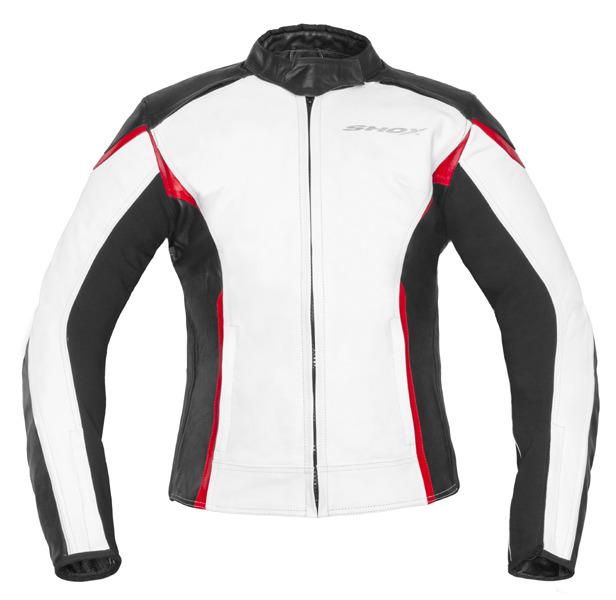 8d0f9f26aa Shox Victoria motoros női bőrzseki fehér/fekete/piros – Showbike