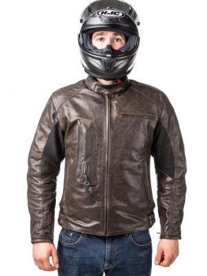 Difi Sacramento 2 motoros bőrdzseki FeketeFehérUV